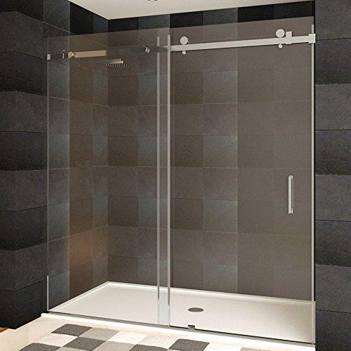 "LessCare LBSDB6076-B  60"" x 76"" Shower Door Brushed Nickel F"