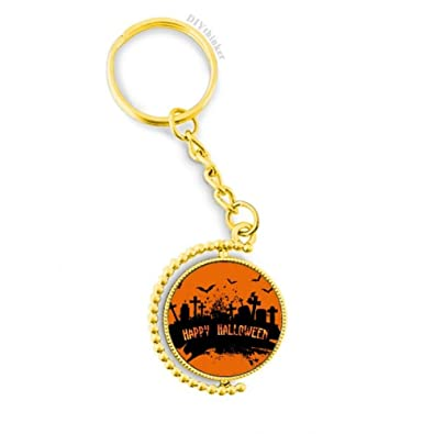 Amazon.com: Horror Night Cementerio Halloween Metal Llavero ...