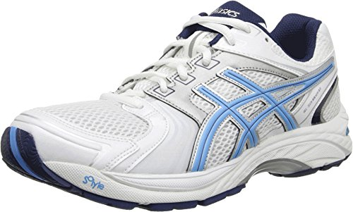 ASICS Women's Gel Tech Neo 4 Walking Shoe,White/Periwinkle/Ink,7.5 M US