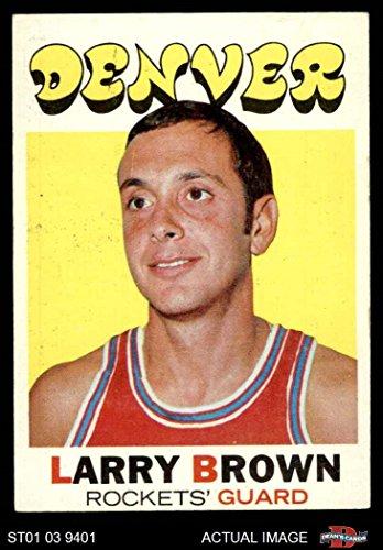 1971 Topps # 152 Larry Brown Denver Rockets (Nuggets) (Basketball Card) Dean's Cards 4 - VG/EX Rockets (Nuggets) Denver Nuggets Brown Basketball
