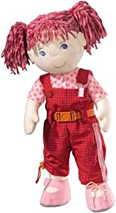 HABA Lilli Dress-up Activity Soft Doll 20 inch with Pink Hair and Blue Eyes