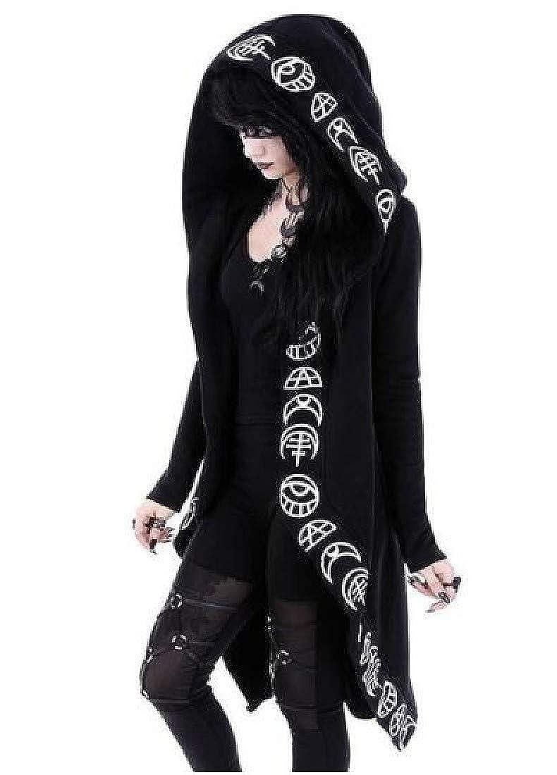 Andopa Womens Gothic Witchcraft Punk Retro Pullover Hoodie Sweatshirt
