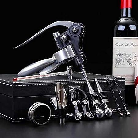 SUODOU Profesional Zinc Alloy Power Bottle Bottle Bottle Saccorcoráraquera Empotrado Foil Cutter Premium Rabbit Palanca Sacacorchos para el Vino abrelatas Sacacorchos (Color : Set with Box)