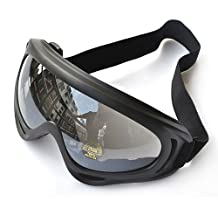CS Windproof UV400 Snowmobile Bicycle Bike Motorcycle Ski Goggle Protective Glasses (Black)