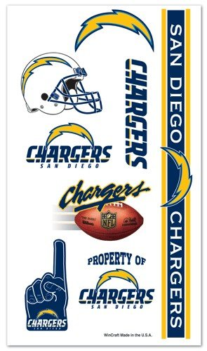 Wincraft San Diego Chargers Temporary Tattoos