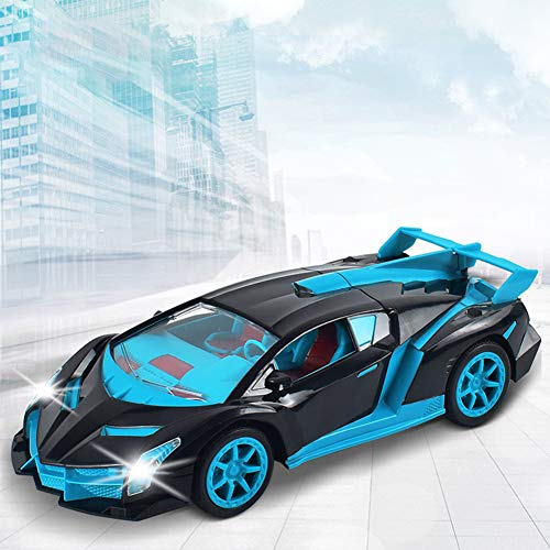 RaiFu リモコンカー 1:18 4WDリモコンカー 子供 チャージ RCカー おもちゃ ライト 車おもちゃ 操作簡単 子供 小学生 贈り物 乗り越え抜群 操作簡単 初心者にも最適