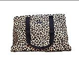 Vera Bradley Triple Compartment Travel Bag, Signature Cotton (Leopard)