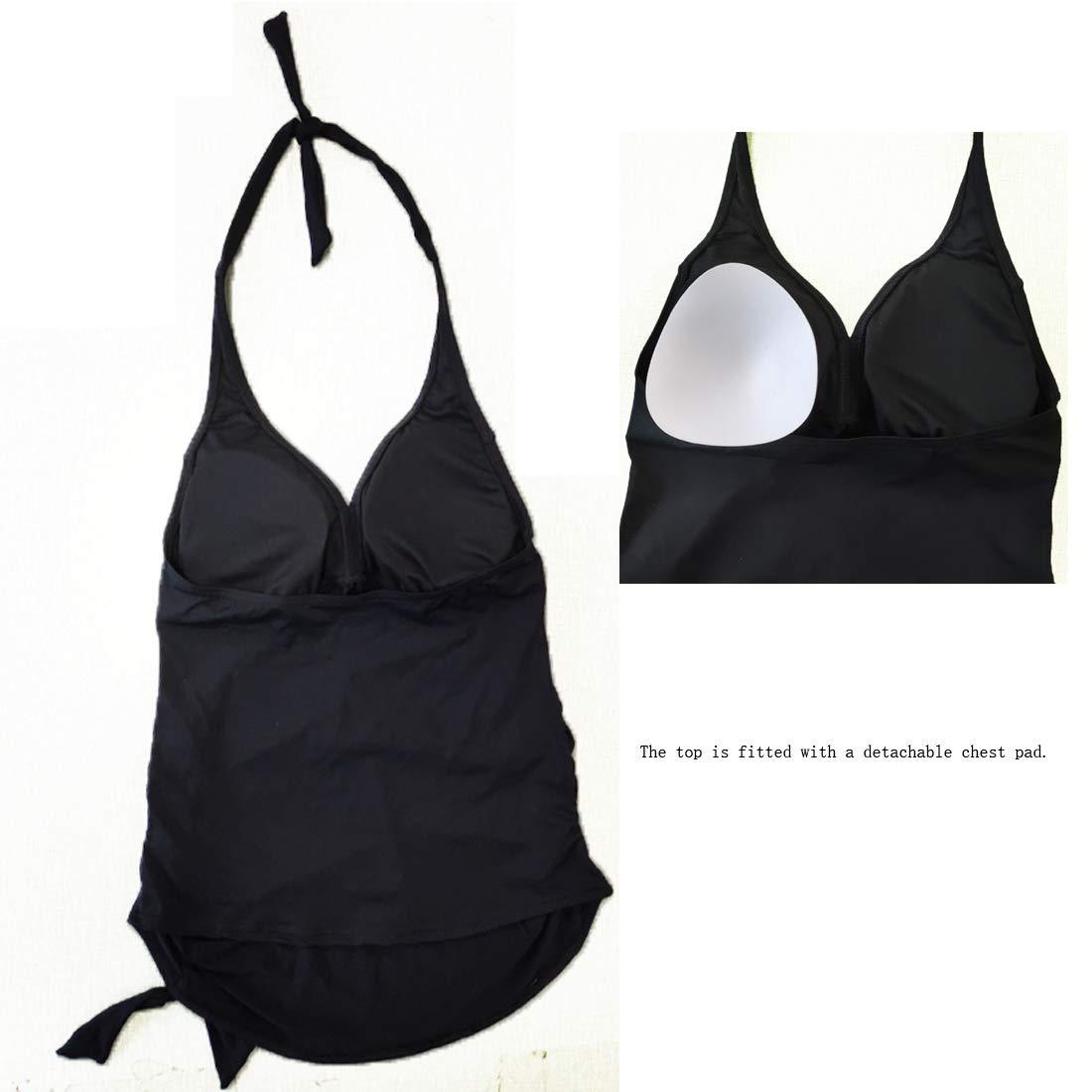 Women Pregnancy Maternity Two Pieces Plus Size Halter Floral Print Retro Floral Print Swimsuits Set