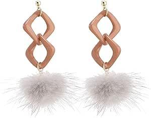 Pendientes Pendientes de bola de pelo de otoño e invierno exquisita moda popular clásico temperamento personalidad versátil largo simple