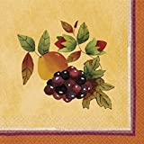 Thanksgiving Medley Gold Beverage Paper Napkins, 16 Ct. | Party Tableware