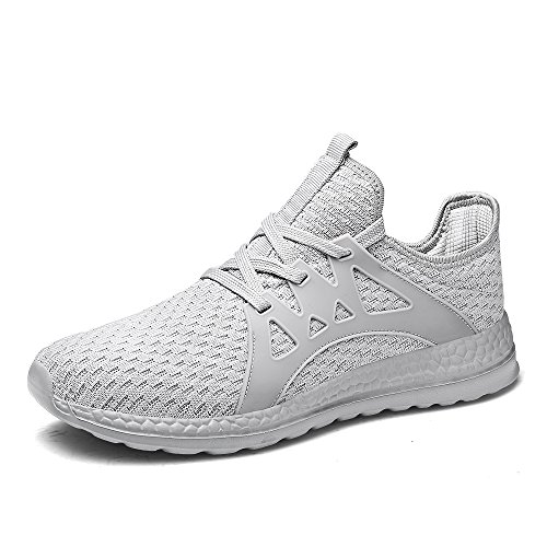 Go Tour Men's Sneakers Mesh Ultra Lightweight Breathable Athletic Running Walking Gym Shoes White 45 by Go Tour