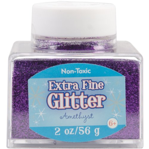 Sulyn Extra Fine Amethyst Purple Glitter Stacker Jar, 2 Ounces, Non-Toxic, Stackable and Reusable Jar, Multiple Slot Openings for Easy Dispensing and Mess Reduction, Purple Glitter, SUL50866