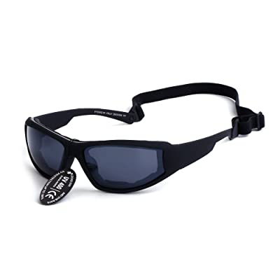 Supertrip UV400 Protective Motorcycle Sports Sunglasses Ski Goggles Color Black: Sports & Outdoors
