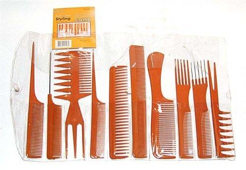 Set Piece Comb 10 - Magic 10 Piece Professional Styling Comb Set (BONE)