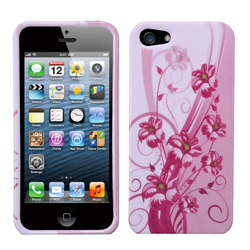 MYBAT Blooming Lily Phone Protector Cover for APPLE iPhone 5