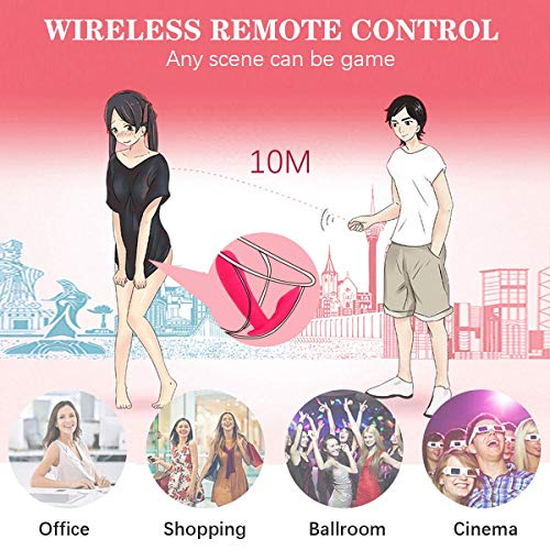 Dildo Vibrator for Women 10 Modes Butterfly G-spot Vibrator Electromagnetic USB Charged Remote Wireless Control Wearable Stretch Vibrator,Sexualwellness Stimulation Body Massager for Women,Gay