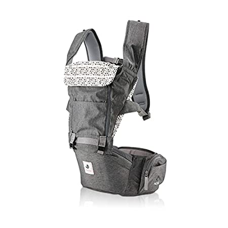 Pognae No 5 Outdoor Organic Baby Hipseat Front Backpack Carrier Gray