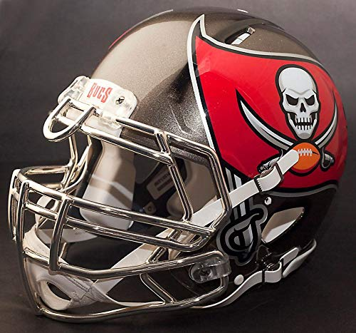 Riddell Tampa Bay Buccaneers NFL Full Size Speed Football Helmet (Football Helmet Tampa Buccaneers Replica Bay)