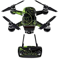 Skin for DJI Spark Mini Drone Combo - Green Distortion| MightySkins Protective, Durable, and Unique Vinyl Decal wrap cover | Easy To Apply, Remove, and Change Styles | Made in the USA