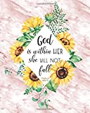 img - for God is within her: Bible Quote Psalm Rose Marble Sunflower Blank Bullet Journal, 160 Dot Grid Pages, 8 x 10 Blank Bullet Journal Notebook with 1/4 inch Dotted Paper, Perfect Bound Softcover book / textbook / text book