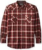 Pendleton Men's Big Long Sleeve Canyon Shirt, Maroon Ombre, XL-Tall