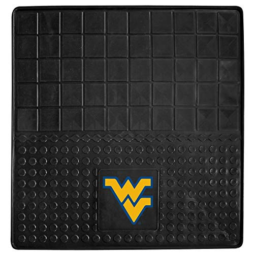 Black NCAA Mountaineers Cargo Mat for SUV Cars Sports Car Floor Mats Large Car Jeep SUV Trunk Mats Garage Floor Carpets Rugs Universal Waterproof Team Logo Basketball Fan Gift, Heavy Duty Vinyl