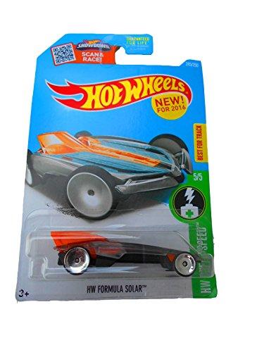 Hot Wheels, 2016 HW Green Speed, HW Formula Solar [Clear/Orange] #245/250 (Solar Race Super Car)