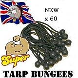 b60 60 Ball Bungees Tarpaulin Bungee Ties Tarp Shock Cord