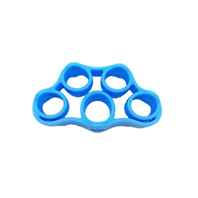 Moserary Children's Toy Silicone Rally Finger Pull Band, Adult Fitness Toy Finger Trainer Five Finger Resistance Band Finger Pull Ring Pull Rope: Home & Kitchen