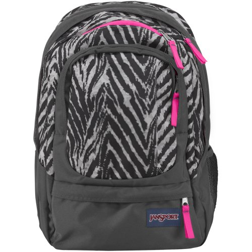 JanSport Air Cure Backpack - Grey Tar Wild At Heart / 18H x 13W x ()