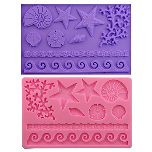 [Let'S Diy Silicone Fondant Star Tree Shell Lace Mold Flower Edgings Model DIY Cake Tool] (Scary Christmas Clowns)