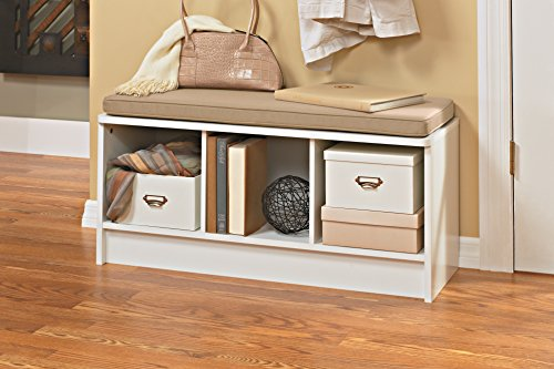 white seating entryway organize storage benches shoes cube separate furniture 689851060571 ebay. Black Bedroom Furniture Sets. Home Design Ideas