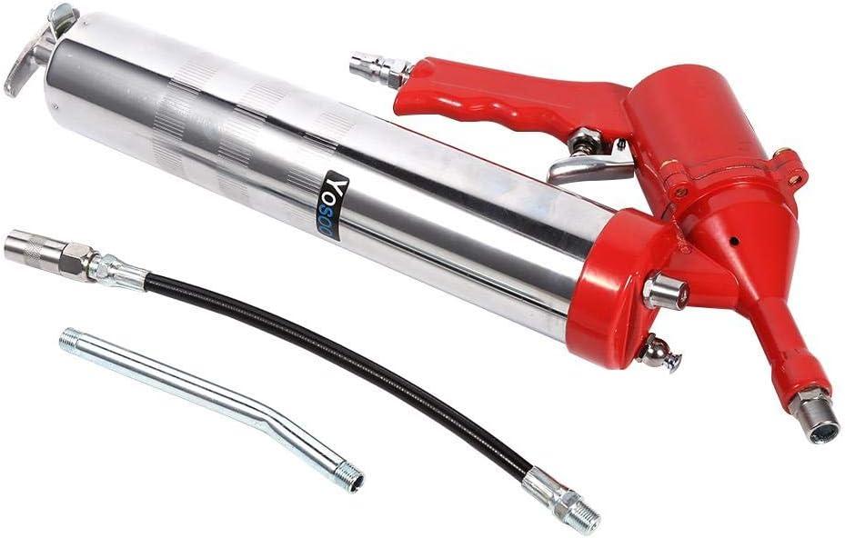 Juego de pistola de engrase de aire con empuñadura de pistola Compresor neumático de aire para Engrase lubricante 1200-6000 PSI con manguera flexible de 11