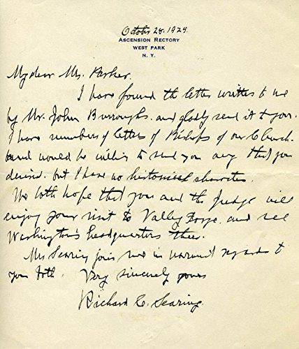 Richard C. Searing - Autograph Letter Signed 10/28/1929