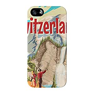 Switzerland Full Wrap High Quality 3D Printed Case for iPhone 5 / 5s by Nick Greenaway + FREE Crystal Clear Screen Protector