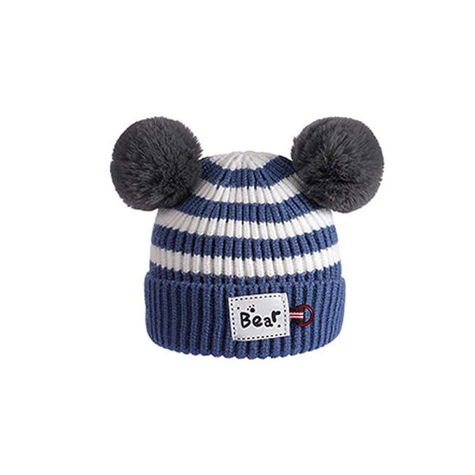 Amazon.com: Gbell - Gorro de punto para bebé, de invierno ...