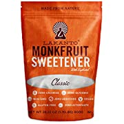 Amazon Lightning Deal 76% claimed: Lakanto Monk Fruit Sweetener All Natural Sugar Substitute, Classic White, 28.2 Ounce (800g)