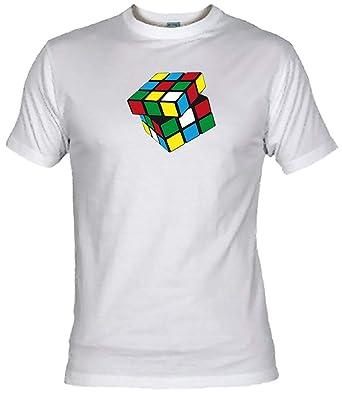 Desconocido Camiseta Cubo Rubik Adulto/niño EGB ochenteras 80Žs Retro: Amazon.es: Ropa y accesorios