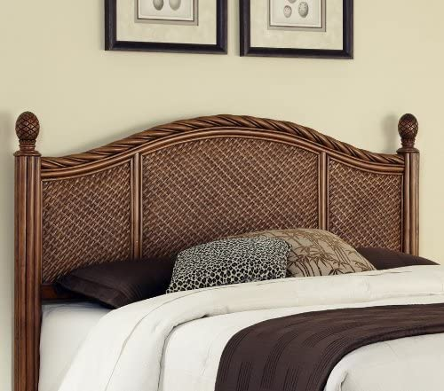 Editors' Choice: Home Styles Marco Island Cinnamon Queen/Full Headboard Constructed of Natural Rattan Woven Wicker and Wood Solids