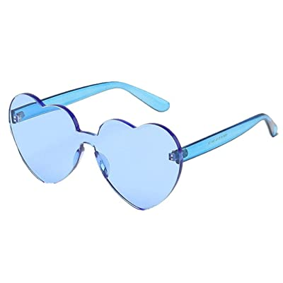 wergem Gafas de protección UV Gafas de sol con forma de corazón para viaje al aire libre Gafas de sol: Ropa y accesorios