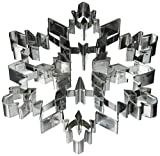 "R&M International 5879 Snowflake 7.5"" Giant Cookie Cutter with Interior Cut-Outs"
