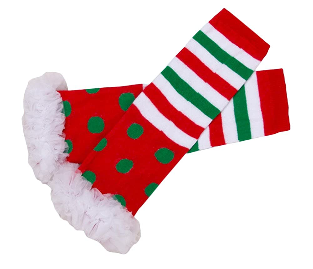 High Rainbow Polka Dot Legwarmers Socks Cotton Leggings Green Lace One Size ZLM17100030