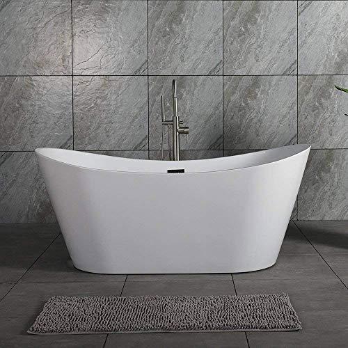 """Woodbridge B-0010 67""""X32"""" Acrylic Freestanding Bathtub Tub with Brushed Nickel"""