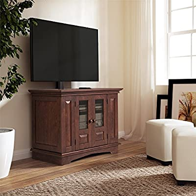 Amazon Com Altra Furniture 37 Tv Stand With Mount Coach Cherry
