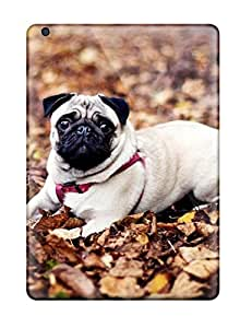 For Ipad Air Protector Case Pug Sitting In The Leaves Phone Cover by supermalls