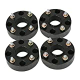 RockTrix for Precision European - 4pc Black 2'' Thick ATV 4x110 Wheel Spacers with 10x1.25 Studs Nuts for many Honda Yamaha Kawasaki Suzuki (Verify Specific Year/Make/Model in Description) 4/110 V1