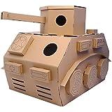 iBonny DIY Toys Cardboard Tank Army Tank Playhouse Indoor Playhouse Cardboard Houses