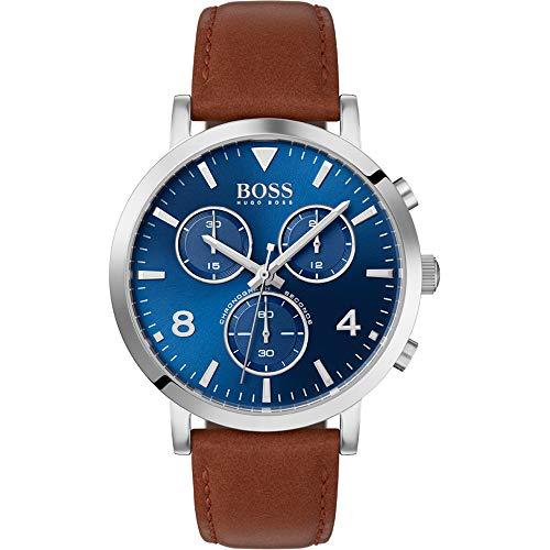 Boss Herren-Uhren Analog Quarz Leder 32005888