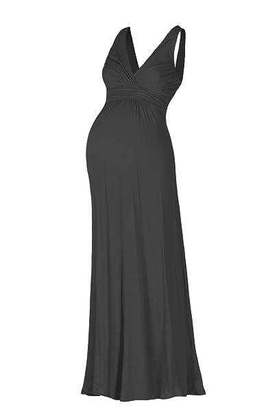 Amazon.com: Beachcoco vestido maxi cuello en V sin mangas ...