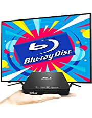 $89 » Super Mini Blu-Ray DVD Player for TV,1080P Blue Ray HD DVD Player, Portable CD HD Player Home Theater Disc Player, with Remote Control + HDMI AV Cable + Built-in PAL/NTSC, Support USB Input